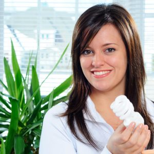 Energy-efficient CFLs are a great option for power conservation.